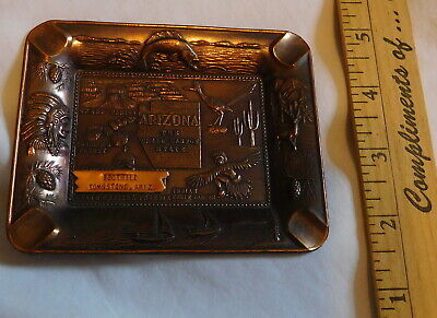 vintage Arizona the Grand Canyon State Rectangle Ashtray Boothill Tombstone