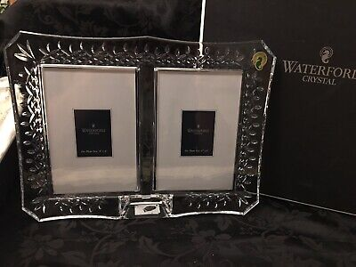 """Waterford Crystal LISMORE DOUBLE PHOTO Picture Frame 4 x 6"""""""