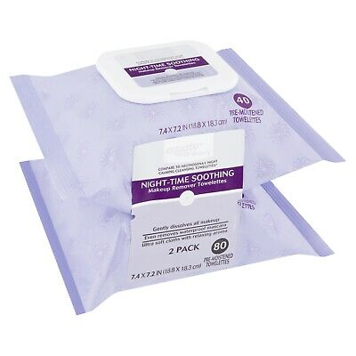 EQUATE BEAUTY NIGHT,TIME Soothing Makeup Remover Towelettes