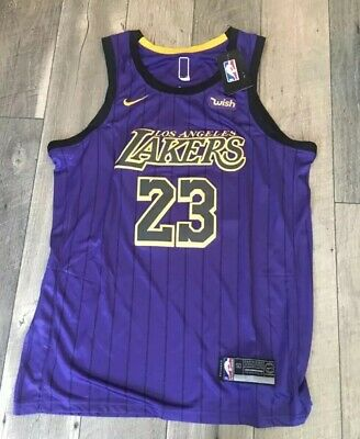 01489321e87 Lebron James Lakers Authentic Jersey City Lore Edition Size 50 Large Nike  2019