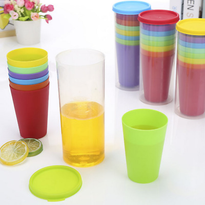 cece6ca81c3 8 Pcs Plastic Drinking Cups Mugs Tumblers Children Party BBQ Outdoor Picnic  UK