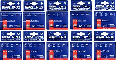 RAPID 10x 1200 Pack 10mm 53/10 Workline STAPLES Industrial Staple Gun