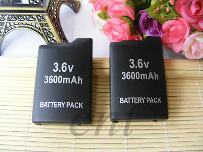 2 pack 3.6v 3600 Mah Replacement Battery Pack For Sony PSP-1001 PSP 1000 New