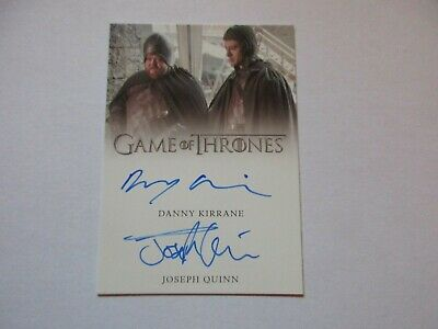 Game of Thrones Inflexions Joseph Quinn and Danny Kirrane DUAL Autograph