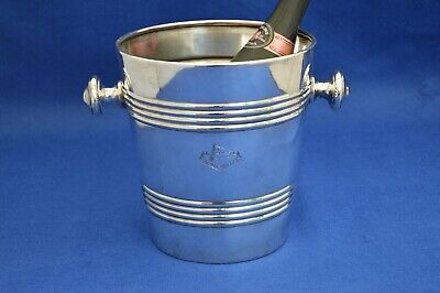 Mappin & Webb Blue Star Line Art Deco Silver Plate Champagne Bucket  ship cruise