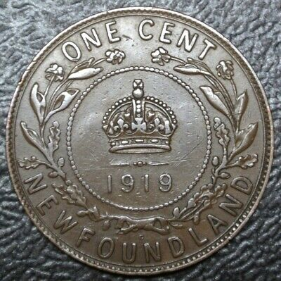 OLD CANADIAN COIN 1919 NEWFOUNDLAND - ONE CENT - BRONZE - George V - Nice