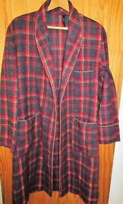 Nicholls of London Mens Vintage Wool Red Check Dressing Gown ?S/M