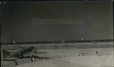 1932 Press Photo View of the National Air Races stands at Cleveland Airport.