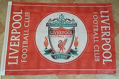 Liverpool Official Club Crest Flag - Liverbird's imprinted on flag - 3 ft x2 ft.
