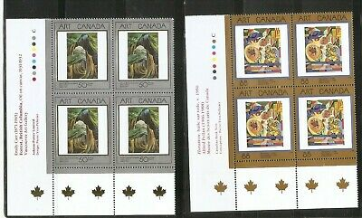 Canada SC # 1310-1516-1545 Masterpieces Of canadian Art . Block Of 4. MNH. 2