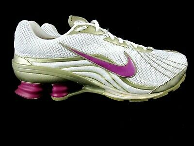 super popular b5954 d6214 Nike Shox Vivify Trainers Women s Running Shoes Size 11 Eur 43 White Gold  Purple