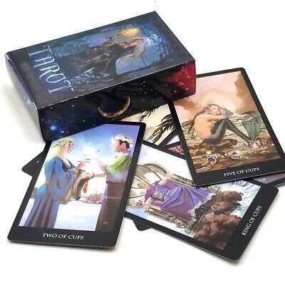 English Shadow Scapes 78 Tarot Cards Deck Read Future Board Game for Women DIY