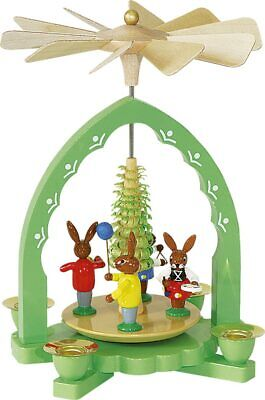 Easter Bunny Pyramid Made in Erzgebirge Germany Handcrafted Spring Decoration