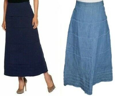 abcb074aef NWT QVC WOMENS size 22W Style & Co. Long Denim Skirt - $27.99 | PicClick