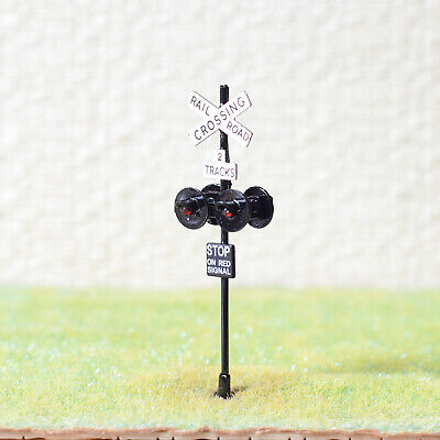 1 x OO / HO scale railroad crossing signal LED made 4 target faces black #2BL4X