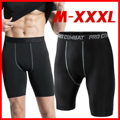 Men Fitness Layer Shorts Pants Sports AU Under Skin Base Compression Tights Pant