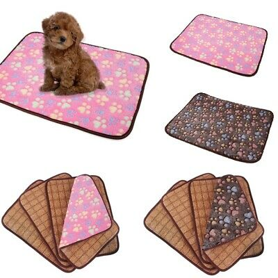 Pet Mat Small Large Paw Print Cat Dog Cooling Mat Cool Pad Cooling Bed Cusion
