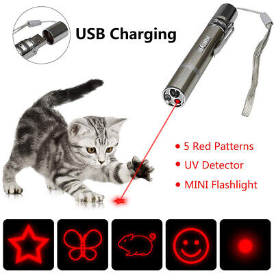 5 Patterns 3-in-1 Laser Pointer Pen + LED Torch + Money Checker Cat Pet Toy Beam