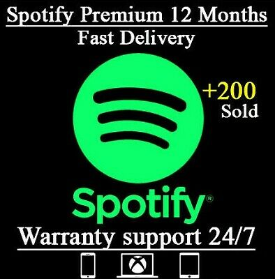 Spotify PREMIUM ACCOUNT - 1 YEAR + FULL WARRANTY