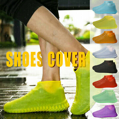 Rain Shoes Silicone  Anti-Slip Reusable Waterproof  Shoe Protector Cover  Unisex