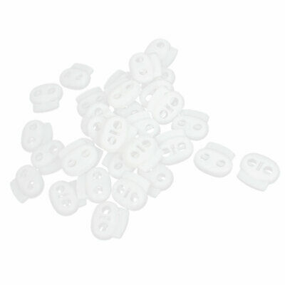 Backpack Tent Bean Toggles Stop 5mm Hole Dia Cordlock White 30 Pieces