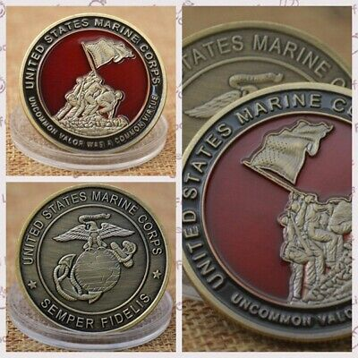 US Marine Corps Commemorative Coin Paint Process Collecting gifts