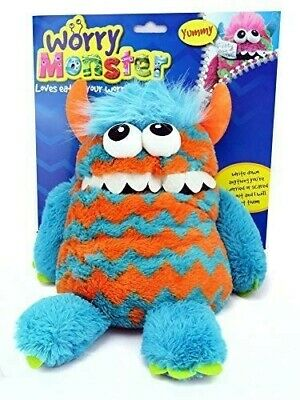 Worry Monster Plush Soft Toy Blue & Orange Childrens Toy *Free Delivery*