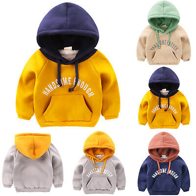 Kids Boys Girls Baby Hoodie Jumper Sweatshirt Hooded Winter Sweater Coat Tops