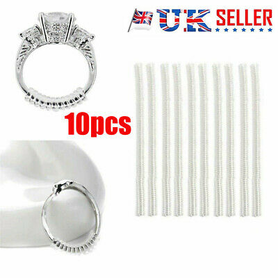 Universal Ring Size Adjuster Reducer Sizer SPIRAL STYLE Invisible Resizer Guard#