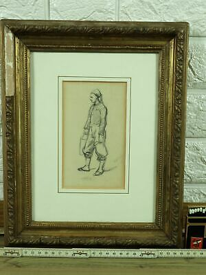Wilhelm Amandus Beer Drawing Antique 1871 Russian Water Carrier Russia