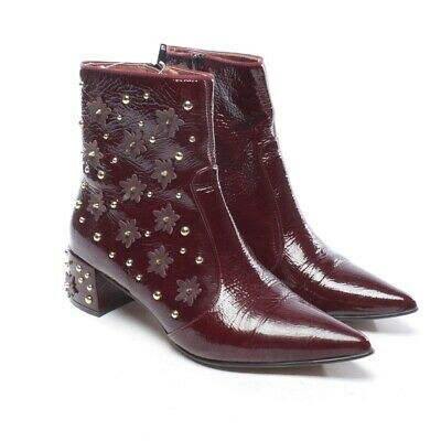 38 Rouge Chaussures Femme Cuir TAILLE BOTTINES RAS Bottes D rCoQdxWeB