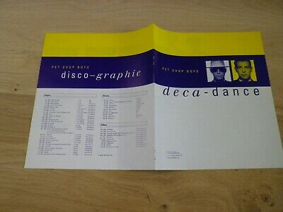 Pet Shop Boys - Deca-Dance !!! Ultra Rare French Promo Bio From The 90'S