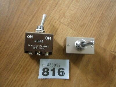 Vintage Electrical Toggle Switch  S - 822 ( X2 )