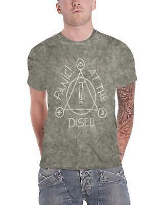 cb62aa83 Panic At The Disco T Shirt Icons band logo new Official Mens Speckle Wash  Size