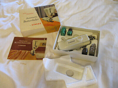 Vintage 1960s Golden Panoramic Automatic Buttonholer by SINGER 161900 Sewing