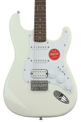 Squier Bullet Strat HSS HT - Arctic White with Ind