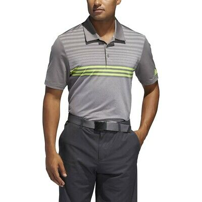 Adidas Golf Ultimate 3-Stripe Heather Gradient Polo Shirt - Pick Size & Color