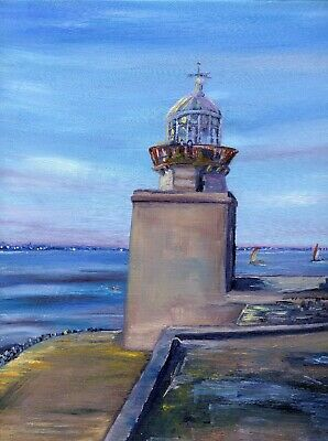 Framed limited edition Howth Lighthouse and pillar by Irish Artist Tonja Maguire