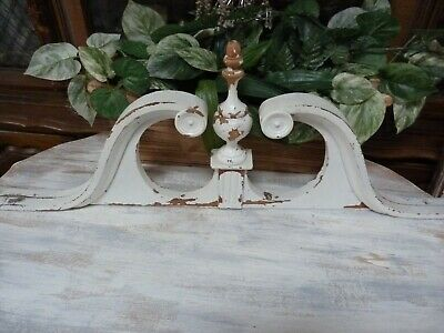 Shabby Yet Chic Salvage CROWN PEDIMENT ARCH w/ FINIAL