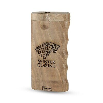 Dugout One hitter with Custom Engraved Game of Thrones, includes Aluminum Pipe