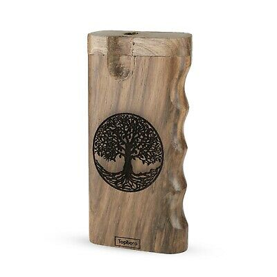 Dugout One hitter with Custom Engraved Tree of Life, includes Aluminum Pipe