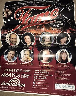 A2 Poster Signed By All Cast Reduced As Creased. Fame UK Reunion 2019