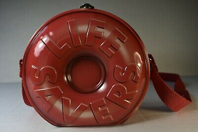Collectible Life Savers Metal Embossed Keepsake Tin, with Canvas Strap