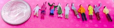 Dollhouse Miniature People - Very Tiny - 10 People Mixed - Largest Approx. 1/2""