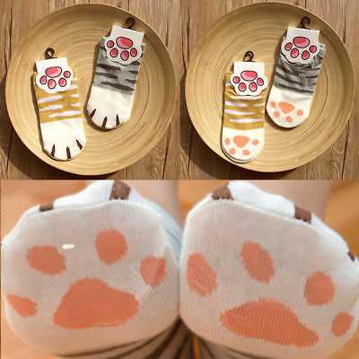 Women Summer Winter Cute Cartoon Cats Paw Soft Claws Ankle Short Socks