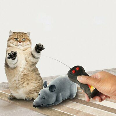 Wireless Remote Control RC Electronic Rat Mouse Mice Toy For Cat Puppy Gift UM