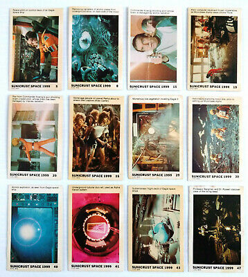 1975 Sunicrust Bakeries SUNICRUST SPACE 1999 CARDS LOT OF 12 Gerry Anderson