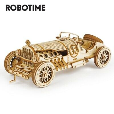 ROBOTIME DIY Garden Doll House Wooden Miniature Fairy Model Kits to Building Toy