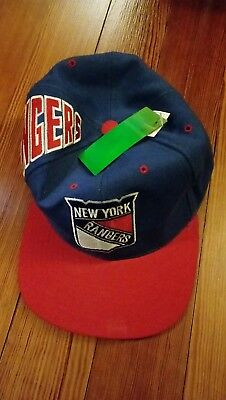 los angeles 3429f ecacd New York Rangers American Needle Airhead Snapback Hat Size Large NHL hockey