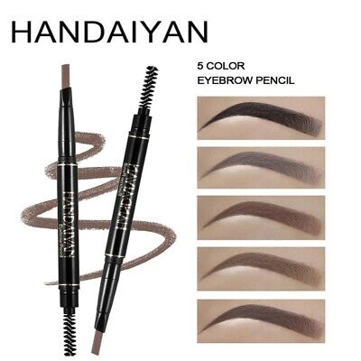 5 Color Long Lasting Double Ended Eyebrow Pencil Waterproof Rotatable Triangle